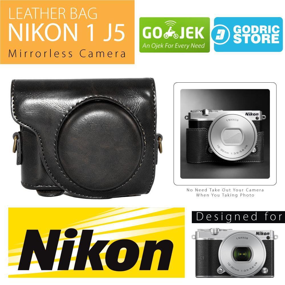 Cek Harga Baru Nikon 1 J5 Leather Bag Case Tas Kulit Kamera ... f8162d882d