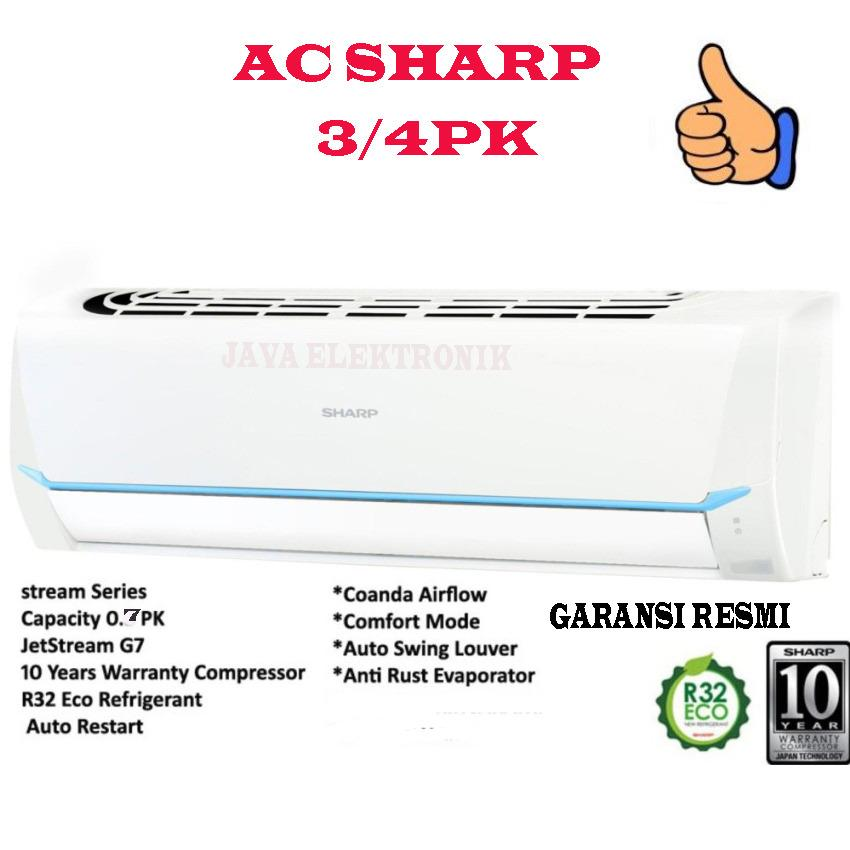 Sharp AH-A7SAY AC Split 3/4 pk New Powerfull JetStream - Putih(garansi resmi)