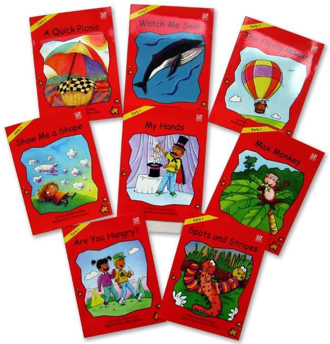 OBRAL MURAH Buku Edukasi Anak Red Rocket Reader Series Storybook Set Early 1 (8 Story Books)+CD Stories for Kids