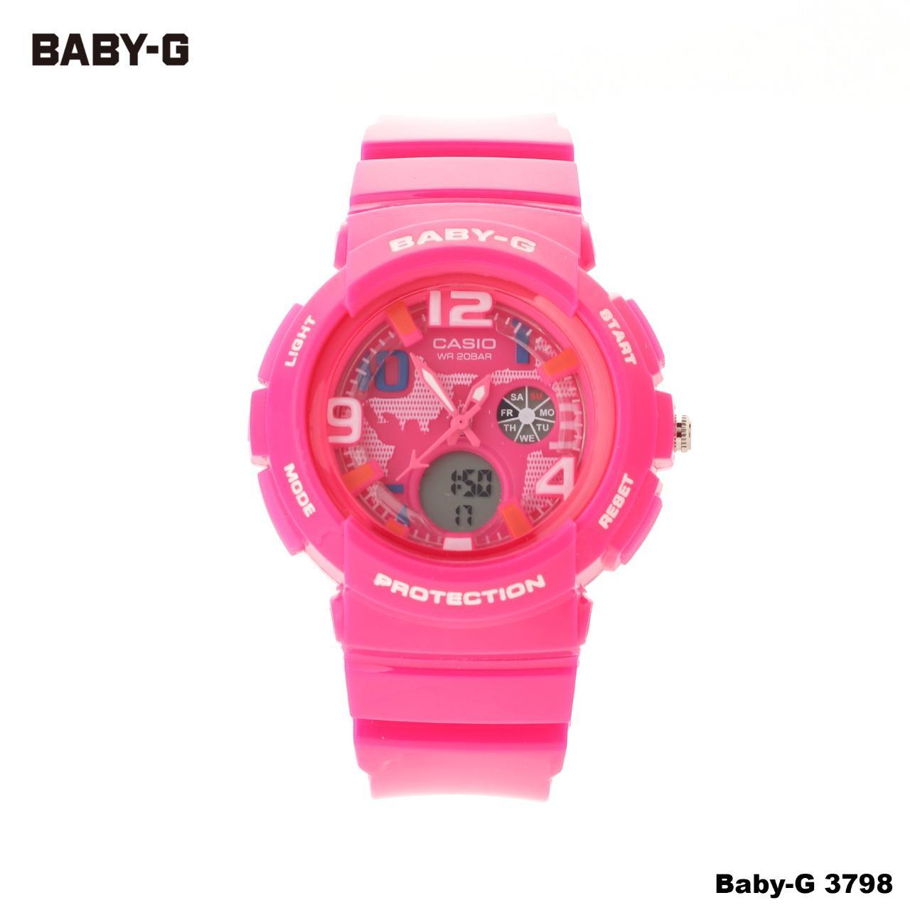 Jam Tangan Wanita SPORT DIGITAL DUAL TIME Anak Murah Casio BabyG Baby G 3798