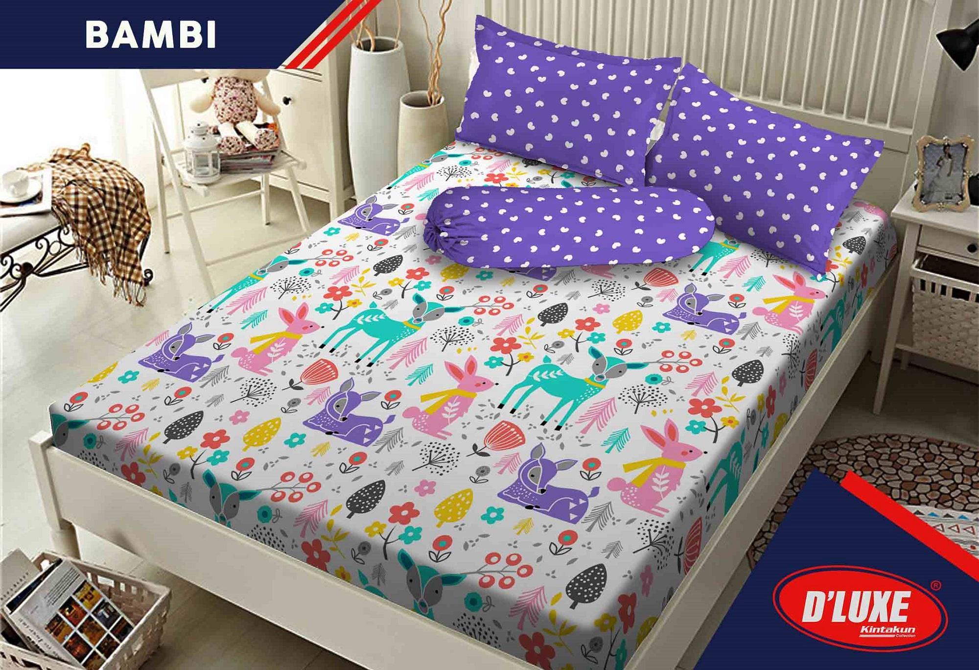 Sprei Bed Cover Kintakun Terbaru Dluxe 160 X 200 B2 Queen Azaki Seprai Perangkat Seprei
