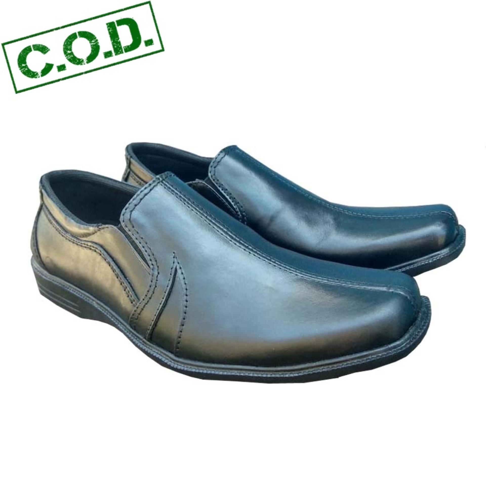 Sepatu Kerja Kantor Pria Kulit 100% Asli - Hitam