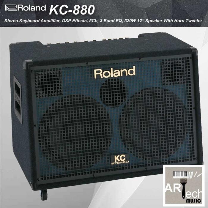 Referensi Ampli Roland KC880 / KC 880 Keyboard Amplifier 5 Channel 320 Watt speaker aktif / speaker laptop / speaker super bass