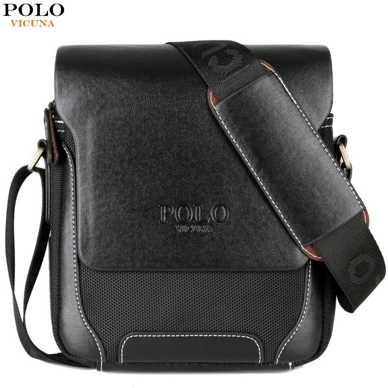 4d3002560c73 VICUNA POLO Solid Brand Men Crossbody Bag Male Casual Travel Simple Style Leather  Shoulder Bag Man