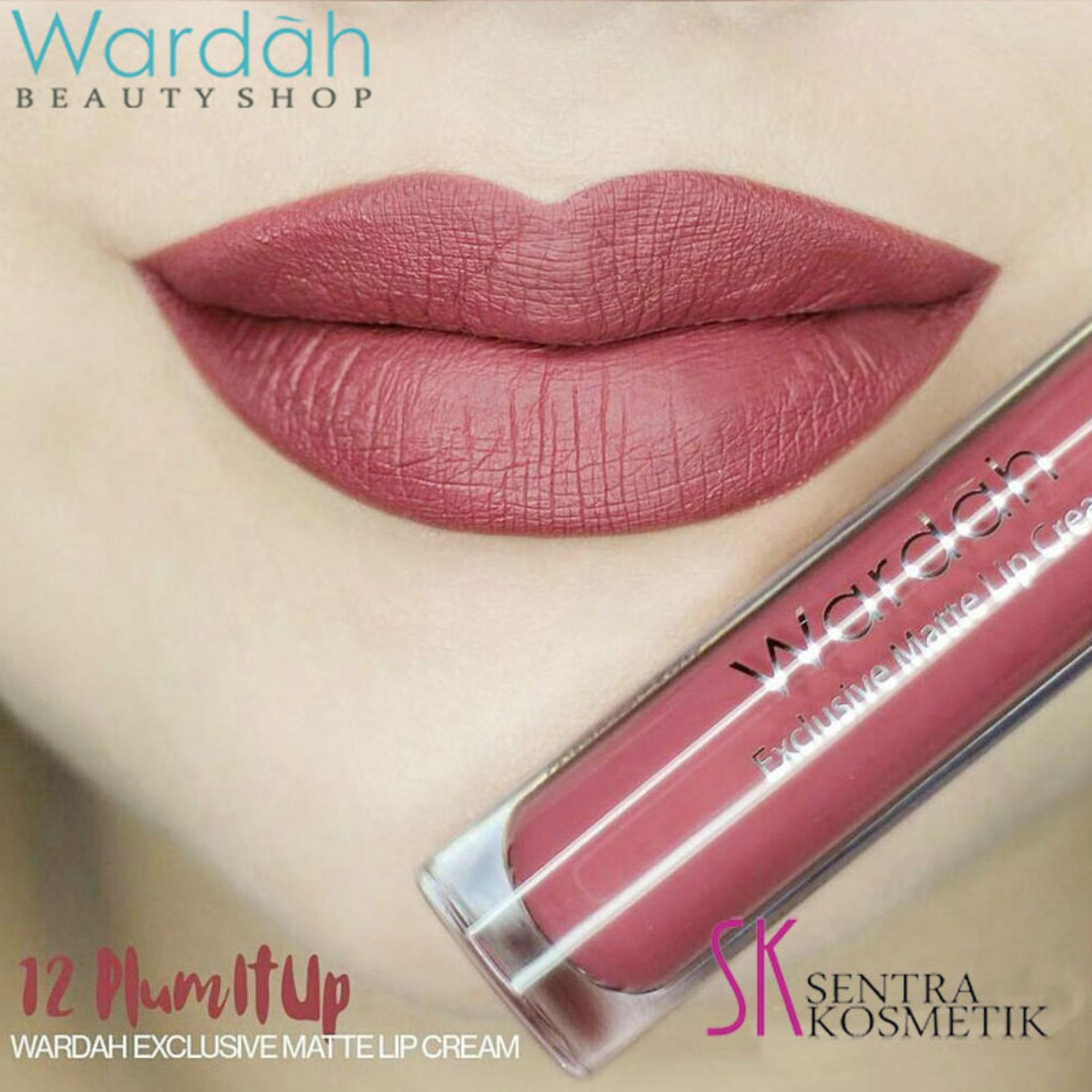 Wardah Exclusive MATTE LIP CREAM No 12 - PLUM IT UP