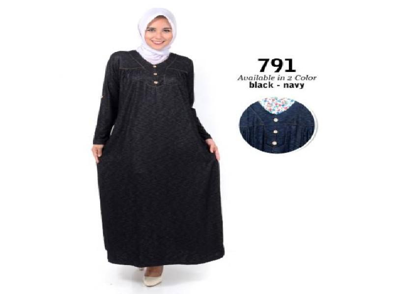 Fashion Baju Gamis Dress XL Jumbo Big Size Murah Wanita Muslim Kekinian 791