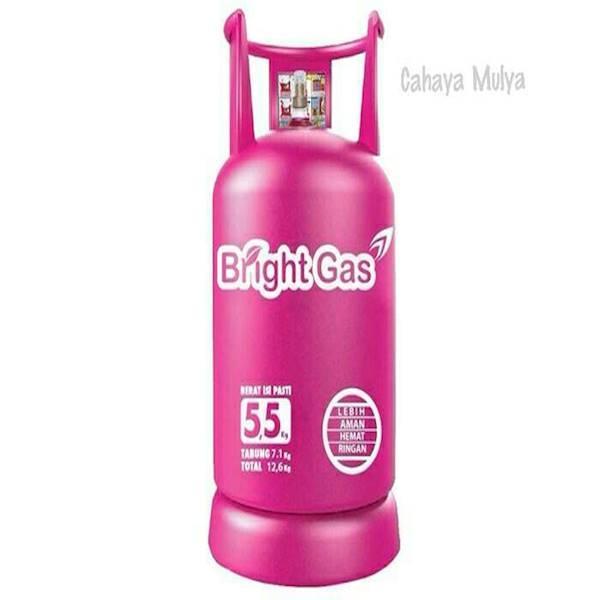 Tabung Elpiji Bright Gas 5.5 Kg + Isi Full & Segel Asli Pertamina