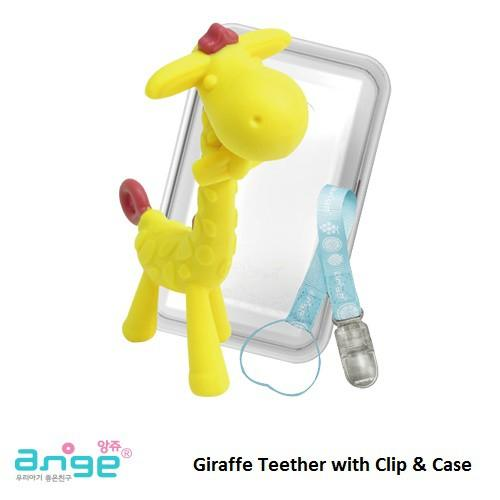 Ange Giraffe Teether with Clip and Case - Made in Korea