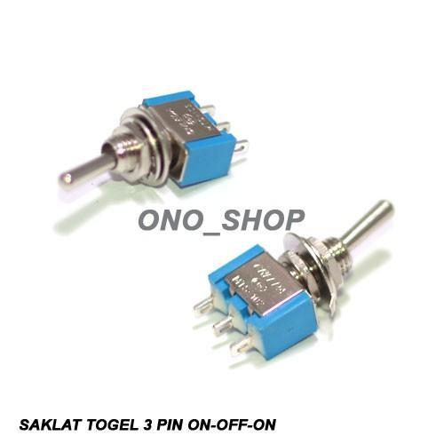 Saklar Togel 3 Pin Mini On-Off-On