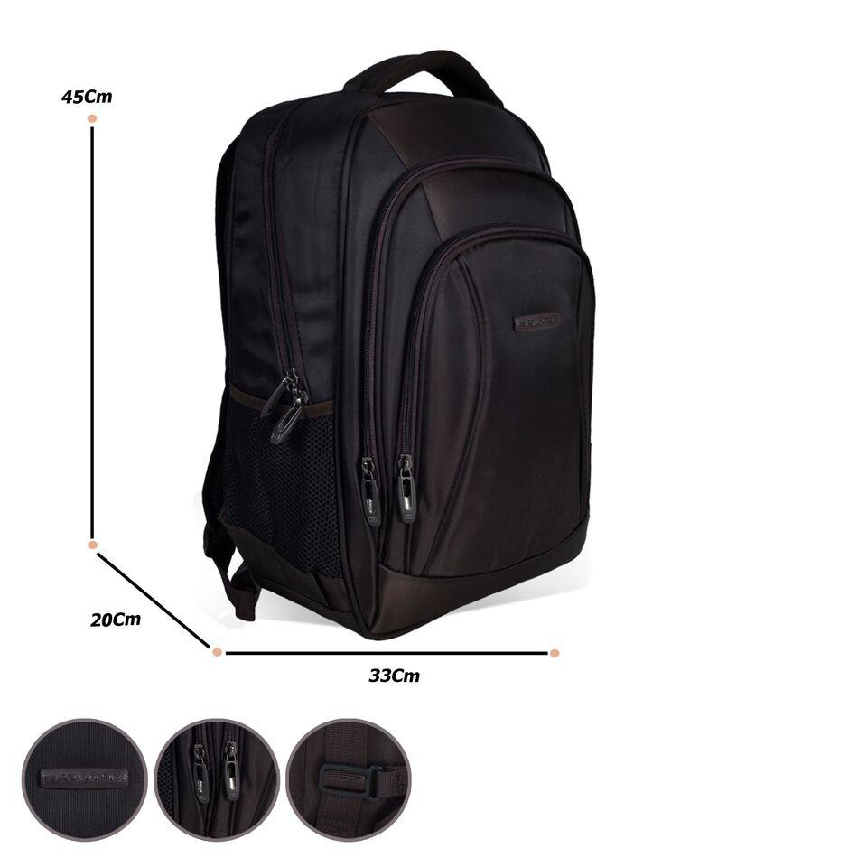 Tas Ransel Leptop POLO DESIGN 78327 18' black+Raincover