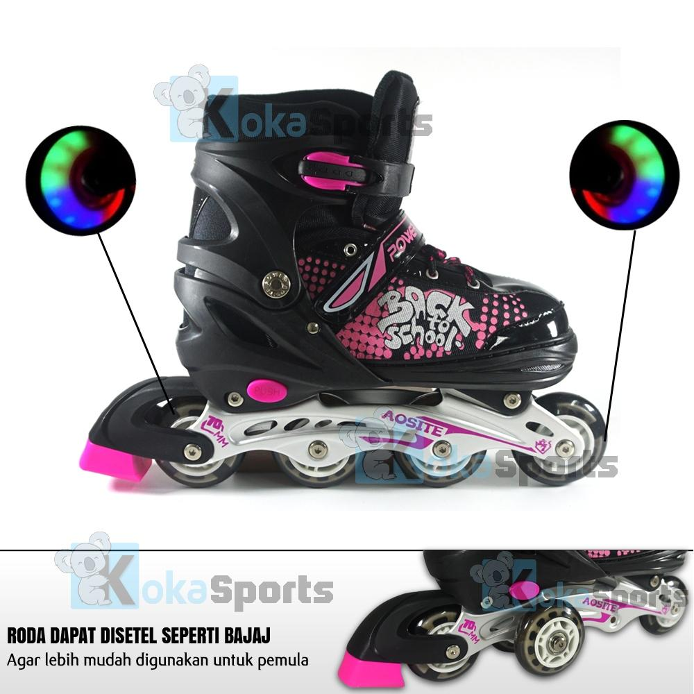 Power Sport 7000 Aosite InLine Skate Sepatu Roda Anak 2 in 1 Adjustable  Wheel 52ccf4ebcb