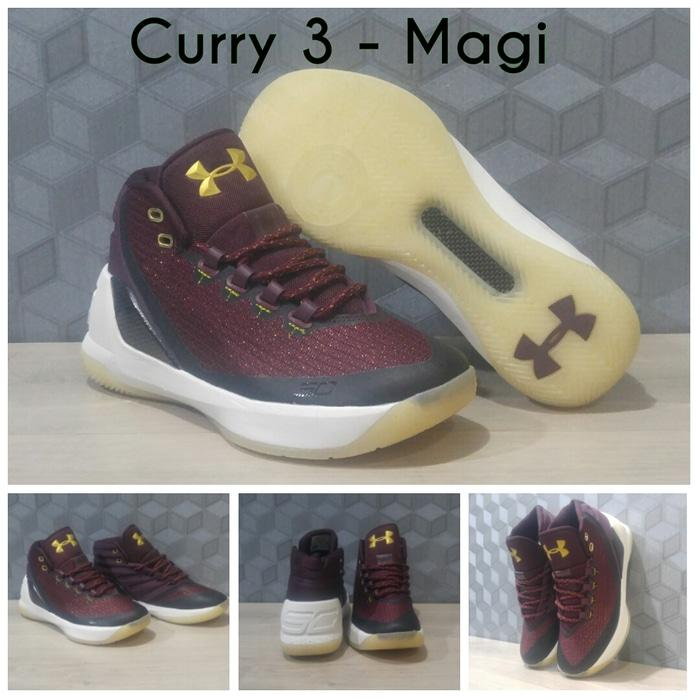 Sepatu Basket Under Armour UA Curry 3 - Magi (Purple)