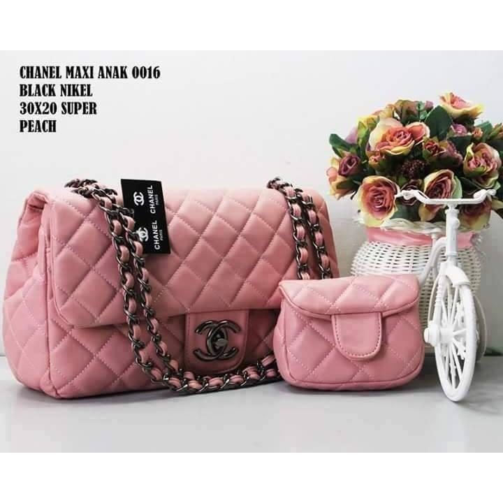 Tas Tali Rantai Branded Chanel Boy Maxi Ukuran Besar 30 Cm Tas ... 730a1b4379