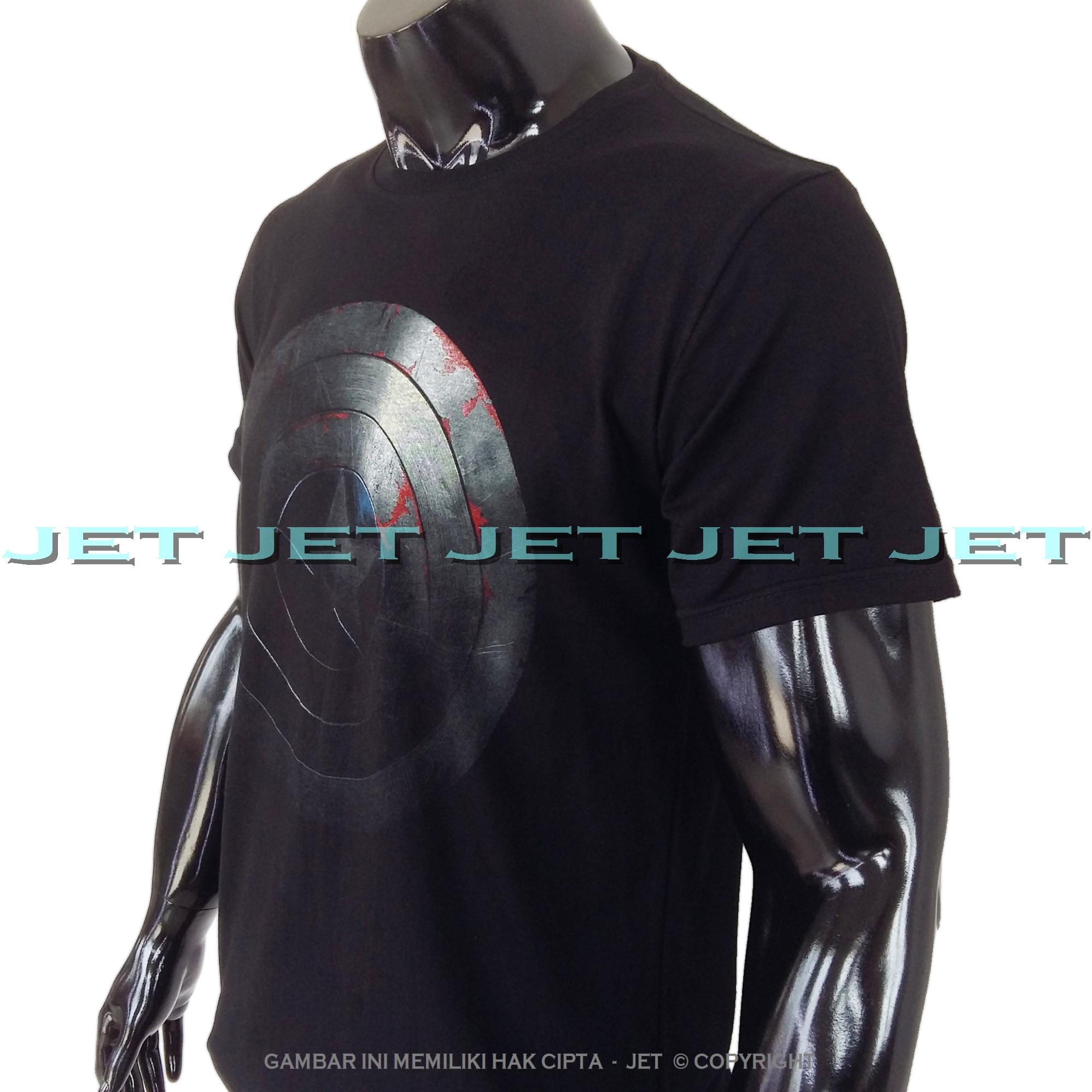 ... JET - KAPTEN AMERIKA 100% Soft Cotton Combed 30s Kaos Distro Fashion T- Shirt ...