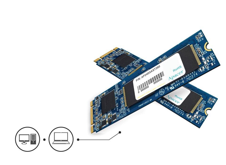 Apacer SSD 240GB M.2 SATA III - AP240GAST280