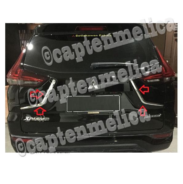 Aksesoris Mobil Mitsubishi Xpander List Pintu Bagasi Belakang Xpander Garnish Lis Body Belakang List Bodi Pintu Belakang Trim Silver Chrome Chrom Crom Krom Asesoris Mobil Acesoris Mobil Xpander Expander