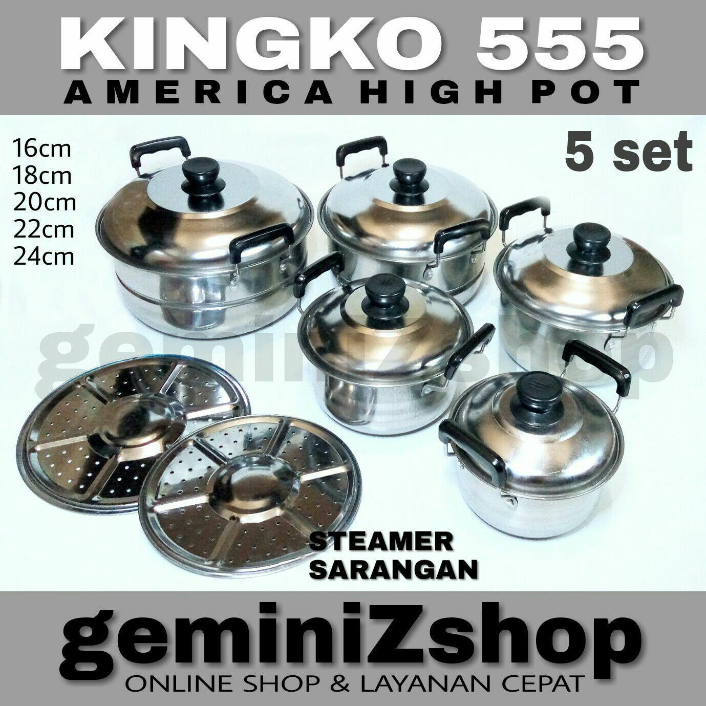 Panci Set KINGKO 555 isi 5 set PLUS Steamer