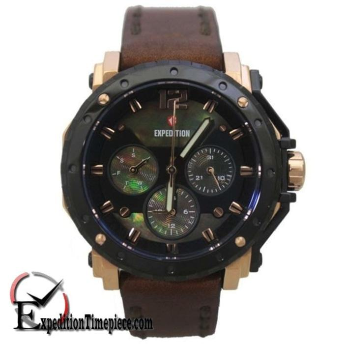 PROMO TERBATAS!!! Jam Tangan Expedition E 6402 B Black Rose Gold Terbaru Murah