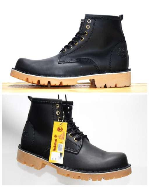 Promo Sepatu Pria Timberland Pro Black Boots Safety Kulit Full Up Touring Fashion