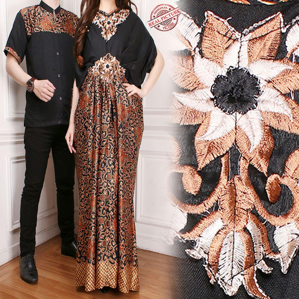 SB Collection Couple Dress Maxi Starley Kaftan Jumbo Dan Kemeja Muslim Batik Pria