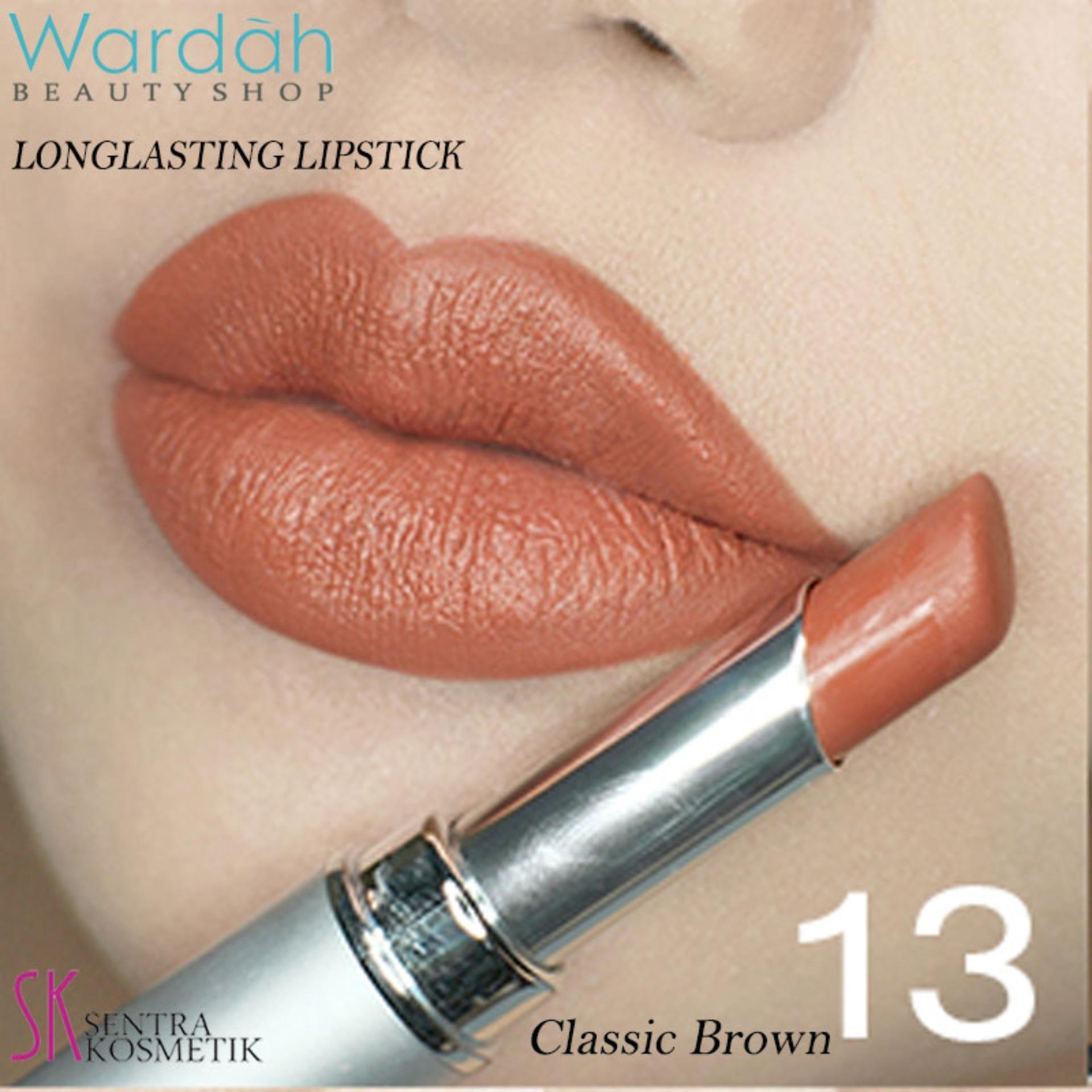 Hemat Wardah Longlasting Lipstick No 13 Classic Brown Facial