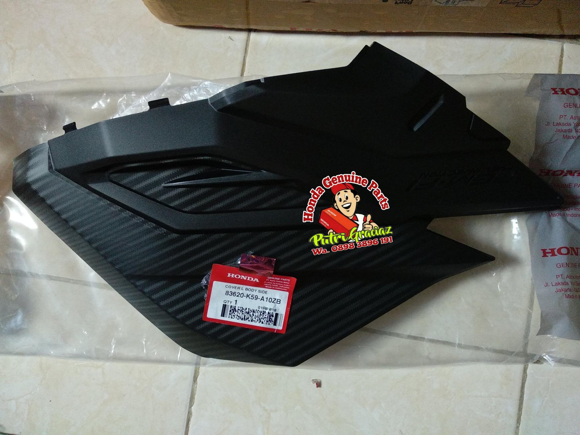 Harga Jual Cover Body Honda Scoopy Karburator Warna Merah Maroon Rr Center Lower Silver Esp K93 83650k93n00zm Rp 58000 L