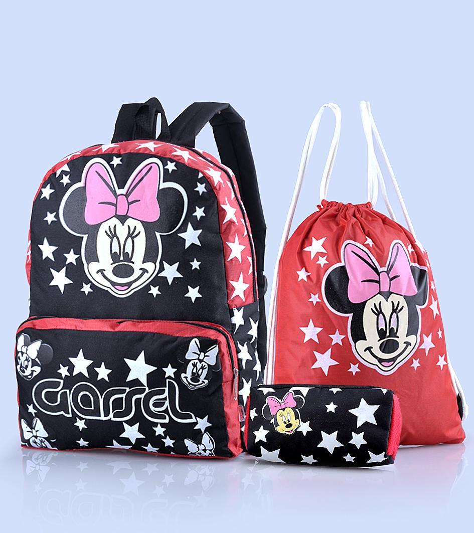 Murah Meriah tas anak wanita satu set / tas sekolah anak + dompet pencil  GYN 4637