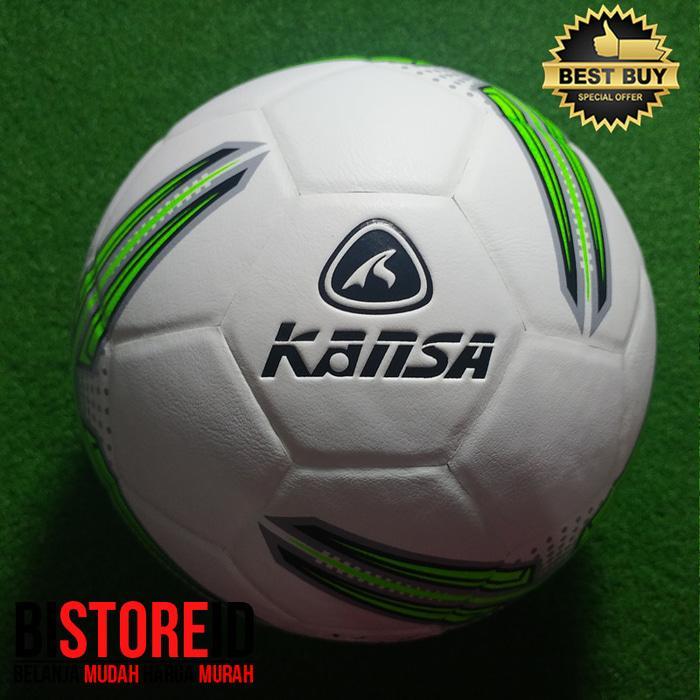 Bola Futsal Kansa Panel Press Motif Segitiga Hijau PROMO
