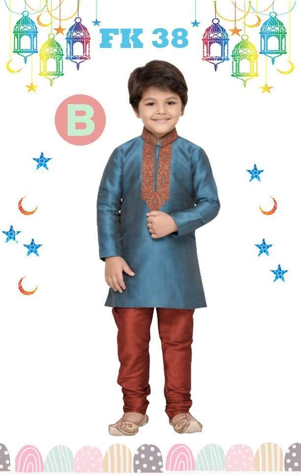 Baju Koko Kostum Anak Kecil India Pakistan Lebaran Import Biru
