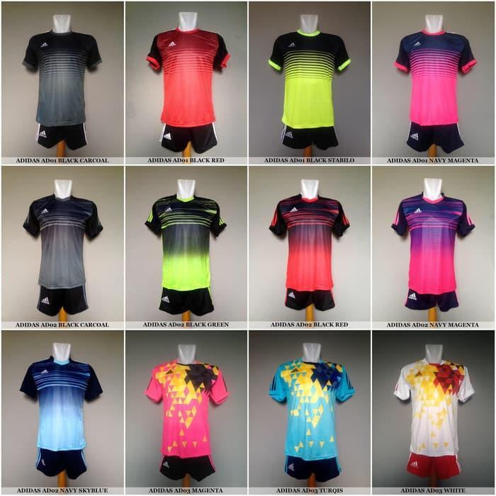 Setelan Jersey Kaos Olahraga SepakBola Futsal Nike, Adidas, Puma Murah