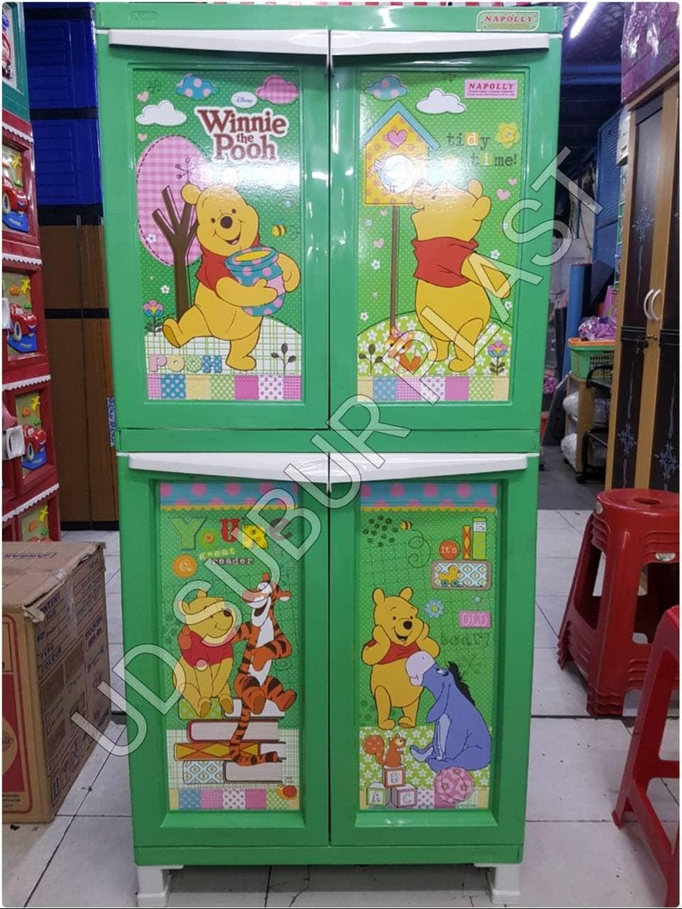 lemari plastik / lemari pakaian / laci plastik napolly susun 4