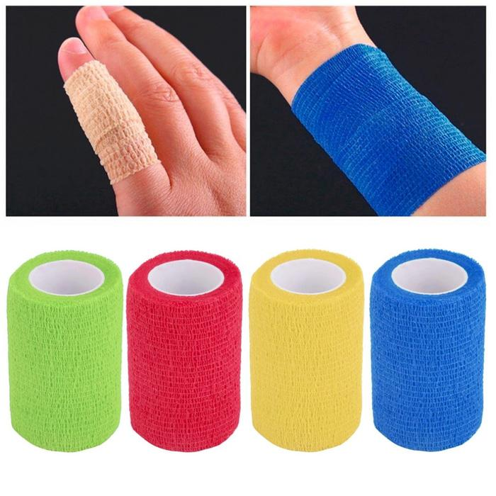 Best Seller!! Self-Adhering Bandage Wraps Elastic Adhesive First Aid Tape - ready stock