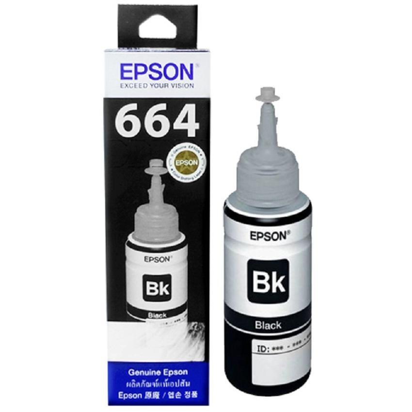 Tinta Printer Epson T664 Series Original BLACK - Tinta Botol Untuk Printer Epson L120 L220 L360 L380