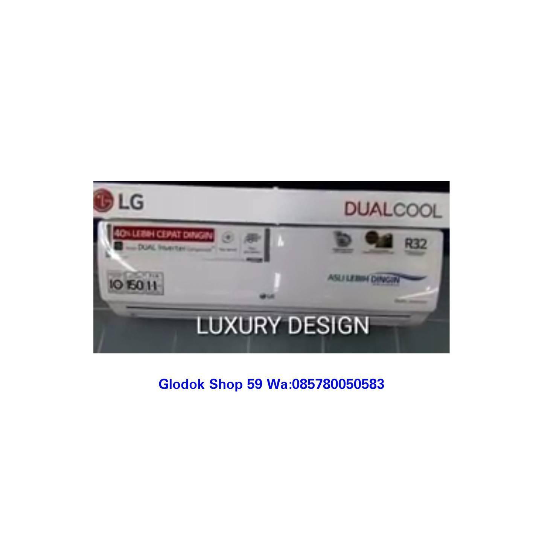 Harga ac lg 1 pk t 10ev3 dual cool inverter gold fin auto swing 4 arah