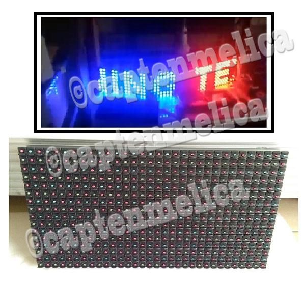 RGB Fantasi M10 7 Multi warna Panel MODUL P10 OUTDOOR Module WIFI led Running Text Tulisan Berjalan Bergerak P10 LUAR RUANGAN Controler KONTROLER HP HANDHONE ANDROID POWER LED POWERLED ANTI AIR HUJAN MOVING SIGN LED Display TOKO Waterproof Colour