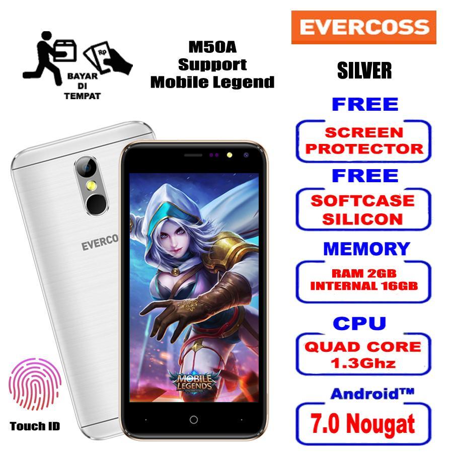 EVERCOSS M50A FACE UNLOCK 2GB/16GB 4G LTE Free Kuota Internet 1.5GB