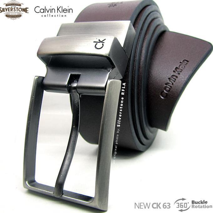 Gesper Pria - Calvin Klein Simply Series Ck53 Sabuk Ikat Pinggang Laki - Putih - Djfpwjg