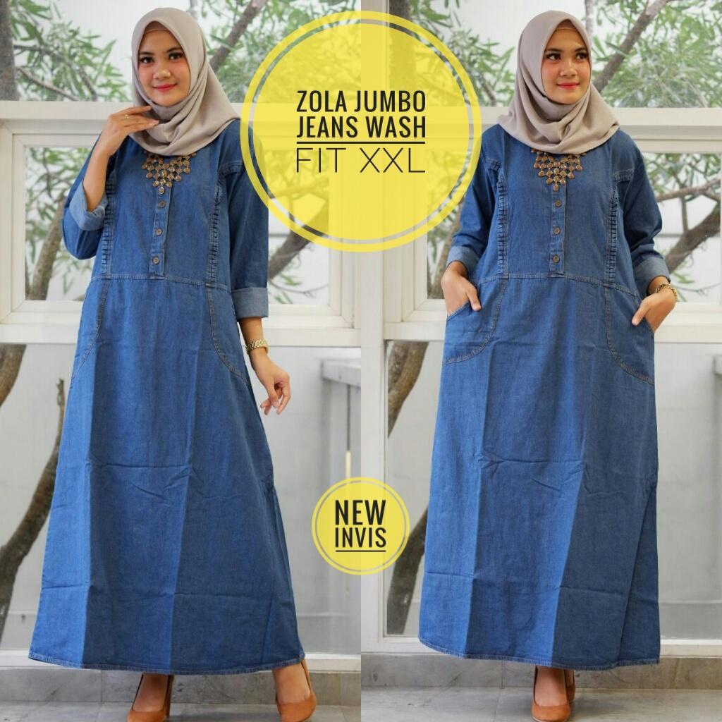 Zola jumbo jeans - dress jeans XXL - dress jumbo - gamis jumbo
