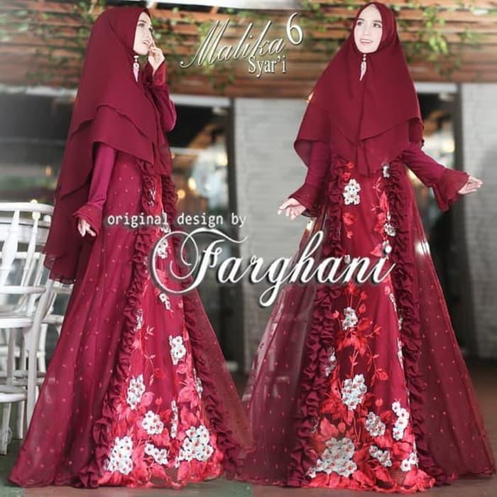 Gamis Syari dan Khimar MALIKA by FARGHANI Original Branded