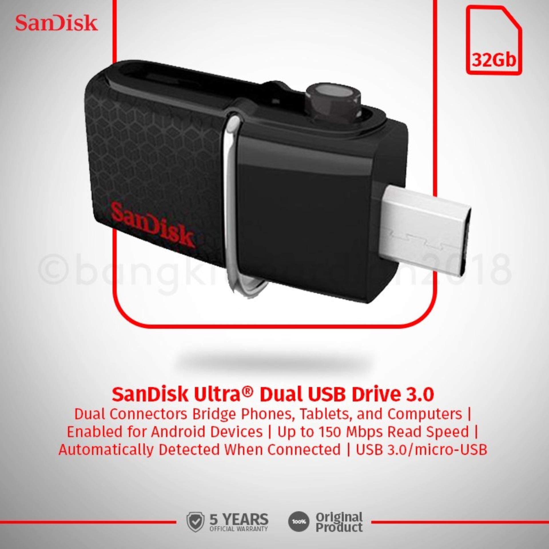 Detail Gambar SanDisk USB 3.0 Ultra Dual USB Drive OTG 32GB Terbaru