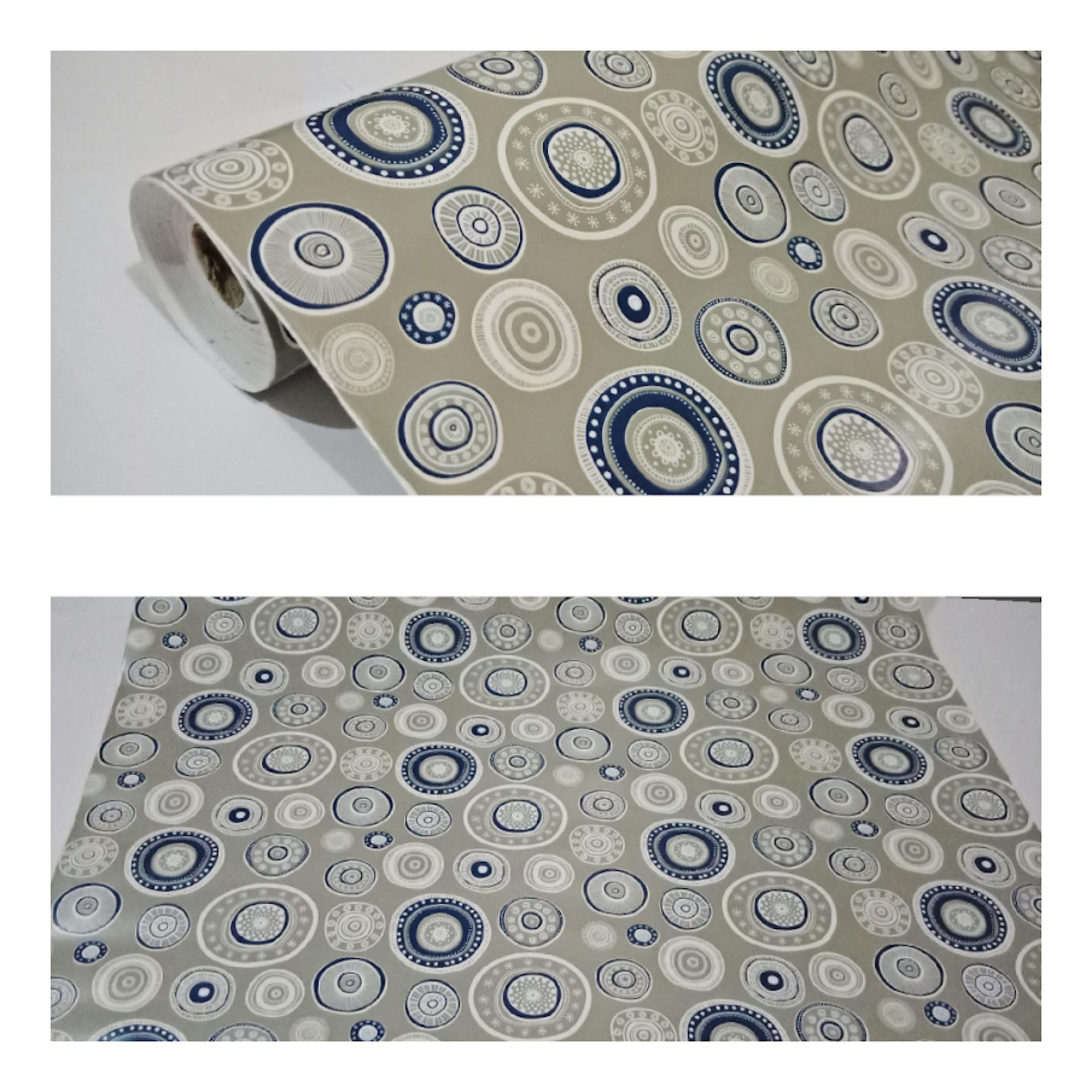 wallpaper termurah terlaris sticker dinding minimalis polkadot abu titik putih