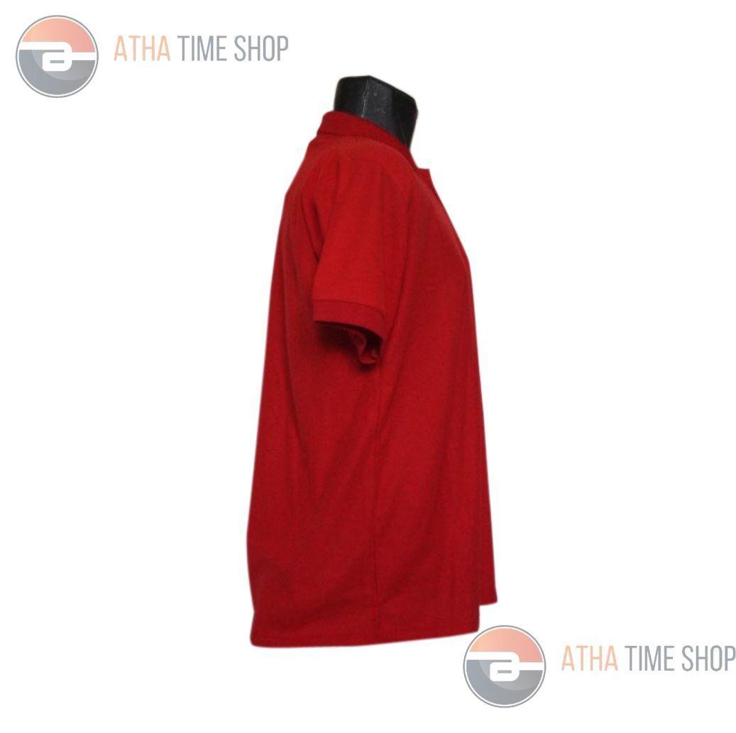 R2G Store Kaos Polo Shirt M L XL Lengan Pendek Baju Pakaian Olah Raga Kaos Kerah Atasan Pria - Merah