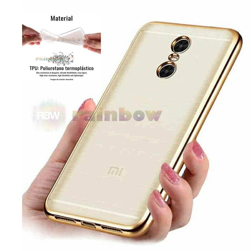Motomo Chrome Xiaomi Redmi 5+ Soft Case Shining Xiaomi Redmi 5 Plus List Chrome Emas  Ultrahin Ring Glossy / Tpu Jelly Case Xiaomi Redmi 5 Plus / Silikon Xiaomi Redmi 5+ / Silicone Shining Case / Case HP / Case Unik / Casing Xiaomi Redmi 5 Plus - Gold