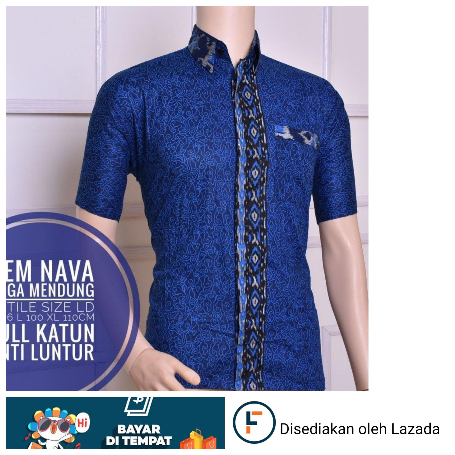 Baju Batik Pria Eksklusif Kemeja Lengan Pendek Modern Motif Jahal Hem Hks001 03 Pekalongan Casual