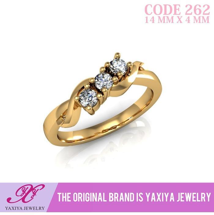 Cincin Lapis Emas Permata Perhiasan Imitasi  Jewelry 262