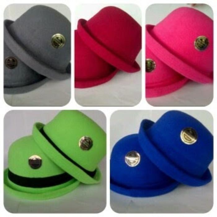 topi chaplin, caplin, bowler hat, bundar, blower, korea
