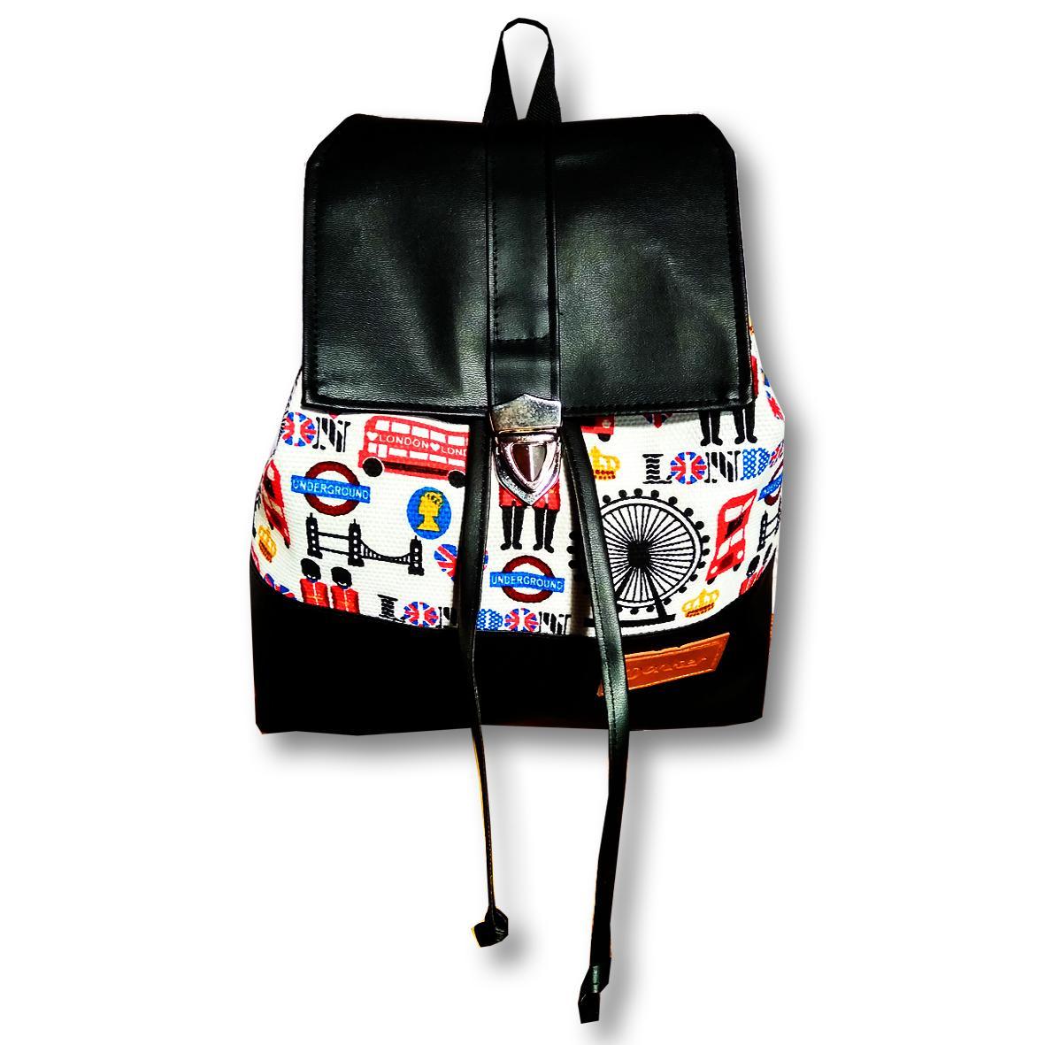 Kehebatan Donker Waterproof Mini Backpack Flamingo Black Tas Wanita Ransel Back Pack London Flip Murah
