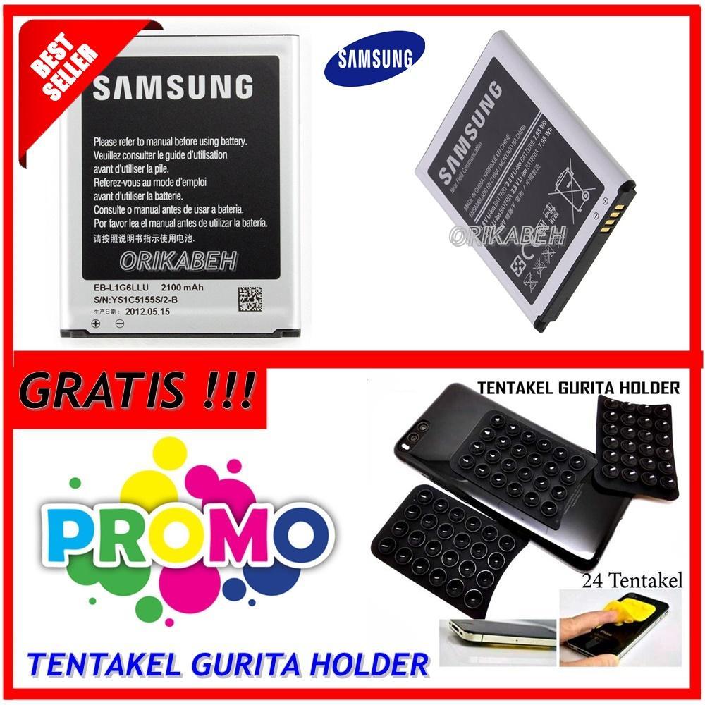 Samsung Baterai / Battery Original Galaxy S3 I9300 Original - Kapasitas 2100mAh + Gratis Holder Gurita