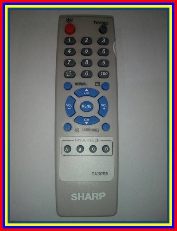 Remot Remote TV Tabung Slim Flat Sharp Ga797Sb KW