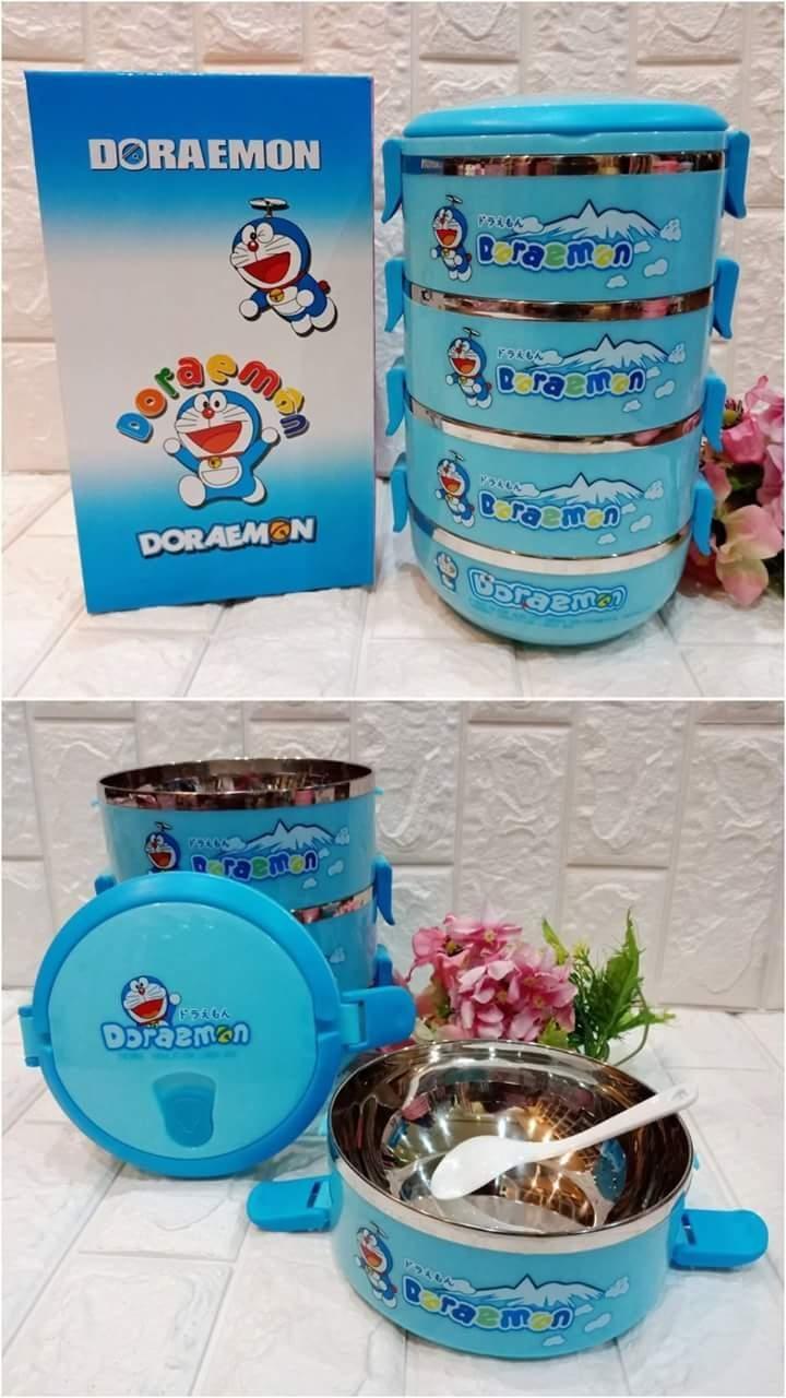 Rantang Karakter 4 Susun 3D Tempat Nasi Sayur Motif Lucu Unik / termos / botol / piring / sendi / pisau / gunting / Frozen / Doraemon / hello Kitty / makan / rak / tapperware / gelas / mug / ketel /